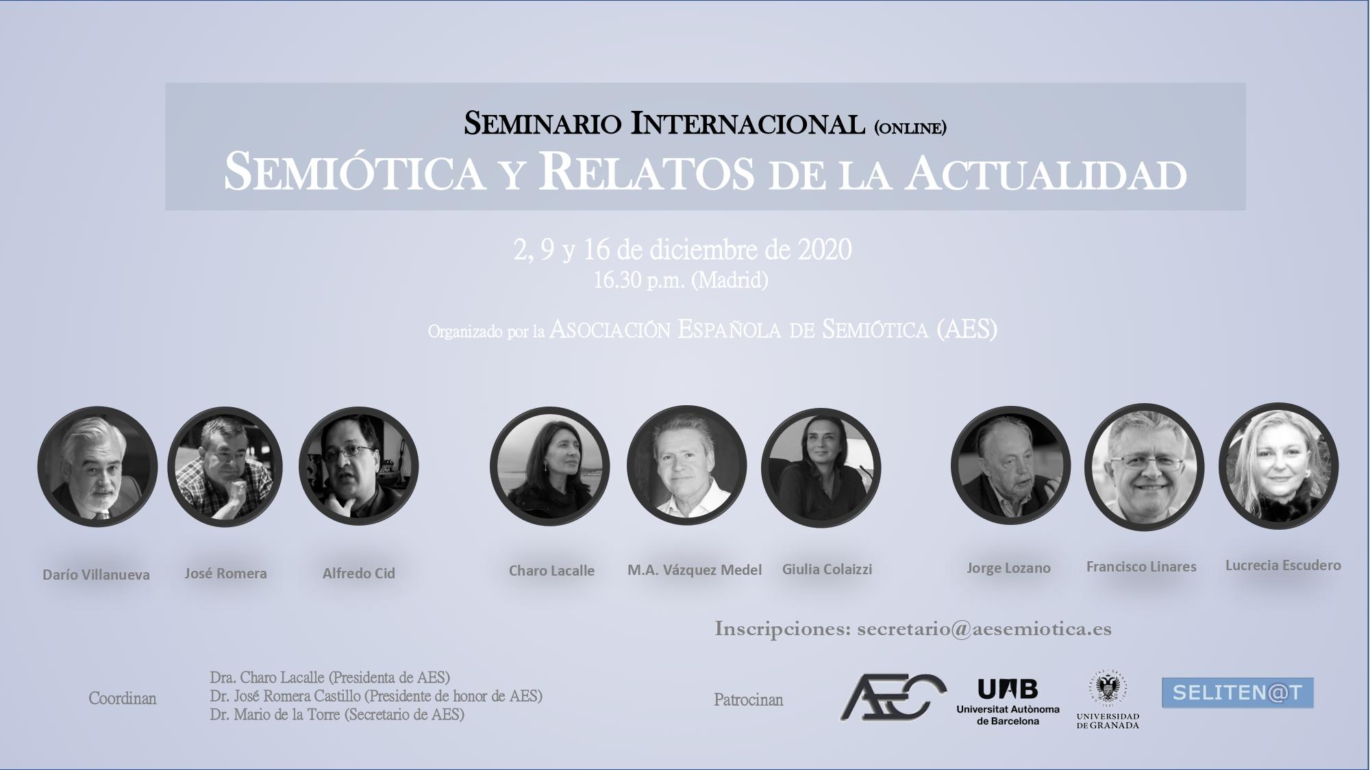 Cartel Seminario Semiotica y Relatos de la Actualidad
